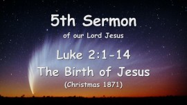 5th Sermon of Jesus - Birth of Jesus - Christmas - Gottfried Mayerhofer