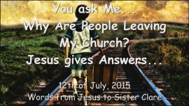 2015-07-11 - Why Are People Leaving My Church