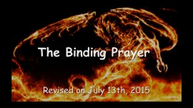 2015-07-13 - The Binding Prayer