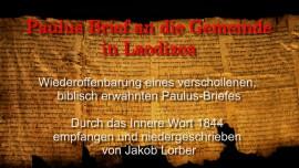 Paulus Brief an die Gemeinde in Laodizea