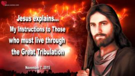 2015-11-07 - New World Order-The Great Tribulation-Instructions from Jesus Christ-Love Letter