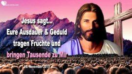 2015-11-10 - Geduld-Ausdauer-Beharrlichkeit-Errettung von Seelen-Ernte des Herrn-Liebesbrief von Jesus Christus