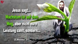 2015-11-25 - Wachstum Vermehrung Zunahme-Leistung-Tugend-Anbetung-Dankbarkeit-Liebesbrief von Jesus