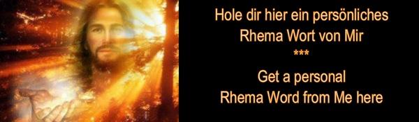 Mein Rhema von Gott-Mein persoenliches Wort von Jesus-My Rhema from God-My personal Word from Jesus