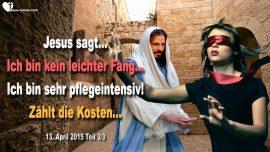 2015-04-13 - Kosten einer Beziehung mit Jesus ist kein leichter Fang-pflegeintensiv-Liebesbrief von Jesus Christus