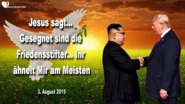 2015-08-03 - Gesegnet sind die Friedensstifter-Unruhestifter Satan-Liebesbrief von Jesus Christus