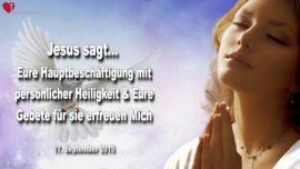 2015-09-17 - Gebete zu Gunsten der Diener Gottes-Hauptbeschaftigung personliche Heiligkeit-Liebesbrief von Jesus