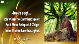 2015-09-20 - Ich wuensche Barmherzigkeit-Seid Mein Beispiel-Jesu Barmherzigkeit Gottes-Liebesbrief von Jesus