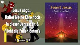 2015-12-01 - Weihnachten Geburt Jesu-Satans Fallen-Materialismus-Schulden-Ausverkauf-Liebesbrief von Jesus