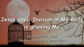 2015-12-27 - Jesus says-Division in My Body is grieving Me