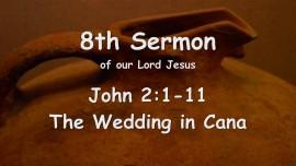 8th Sermon of Jesus - The Wedding in Cana - Gottfried Mayerhofer