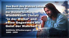 Das Buch des wahren Lebens Unterweisung 13 von 366-Wiederkunft Christi in der Wolke-Geist der Wahrheit