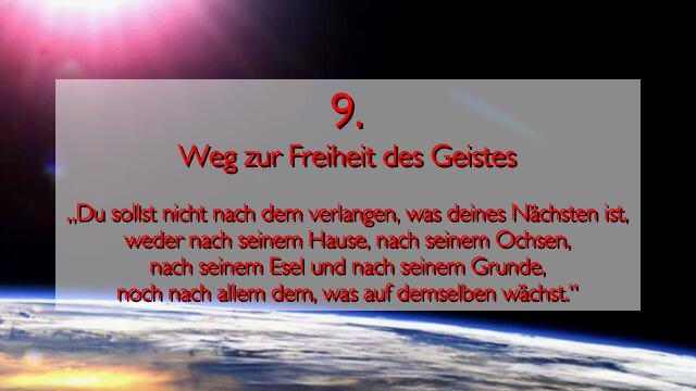 JESUS erlaeutert das NEUNTE GEBOT im Werk Geistige Sonne 2 - Offenbart an Jakob Lorber
