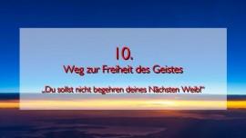 JESUS erlaeutert das ZEHNTE GEBOT im Werk Geistige Sonne - Band 2 - Offenbart an Jakob Lorber