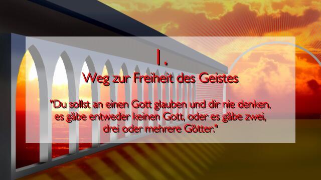 JESUS erlaeutert das erste GEBOT - Im Werk Geistige Sonne - Band 2 - Offenbart an Jakob Lorber
