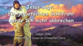 2016-01-02 - Jesus sagt - ein gequetschtes Schilfrohr werde Ich nicht brechen