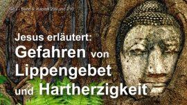 Das Grosse Johannes Evangelium Jakob Lorber-Erlaeuterung von Jesus-Gefahren Lippengebet Hartherzigkeit