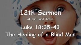 12th Sermon of Jesus - The Healing of a Blind Man - Luke 18_35-43 - Revealed through Gottfried Mayerhofer