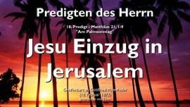 PREDIGTEN DES HERRN-18 -Matthaeus-21_1-9 Jesu Einzug in Jerusalem-Gottfried Mayerhofer