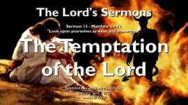 SERMONS OF THE LORD-13 - Matthew-4 1-11-Temptation of the Lord-Gottfried Mayerhofer