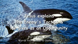 2016-03-20 - Jesus explains the Enemy's Tactics and He gives us an Opportunity