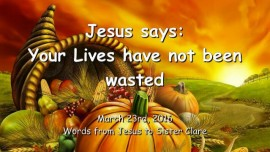 2016-03-23 - Jesus says - Your Lives have not been wasted - LoveLetter from Jesus