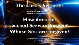 The Lords Sermons-Gottfried Mayerhofer english-Parable of the unfaithful Servant-Forgiveness of Sins-Unforgiveness