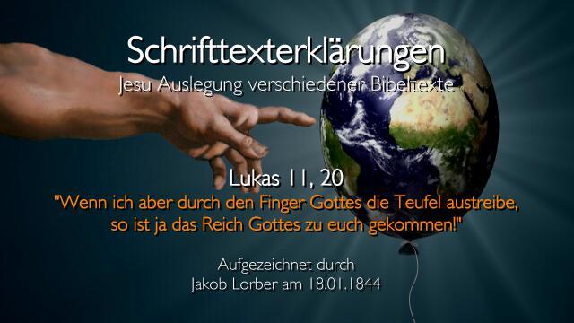 18 Jesus erklaert Bibelstellen - Lukas-11_20 Teufel austreiben