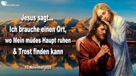 2020-11-10 - Ruheort-Haupt ausruhen-Herz von Jesus Trost-Zuflucht-Sangre de Cristo Berge-Liebesbrief von Jesus Christus