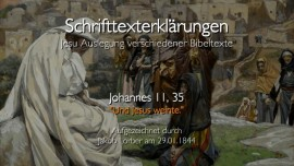 24 Jesus erklaert Bibeltexte - Johannes-11_35 Und Jesus weinte - Jakob Lorber