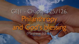 Philanthropy and God's Blessing