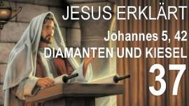 SCHRIFTTEXT-ERKLAERUNGEN Jakob Lorber-37-Johannes-5-42 Die Liebe Gottes habt ihr nicht in euch-Diamanten und Kieselsteine