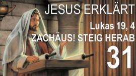 Schrifttexterklaerungen Jakob Lorber-31-Lukas-19-4 Zachaeus stieg auf einen Maulbeerbaum-Zachaeus steig herab