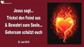 2016-06-23 - Den Feind austricksen-Die Seele erhalten-Gehorsam aus Liebe-Schutz-Liebesbrief von Jesus