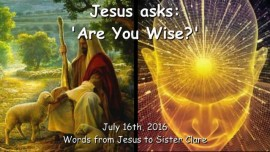 2016-07-16 - Jesus asks - Are you wise