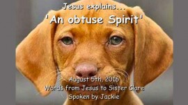 2016-08-05 - Jesus explains - An obtuse Spirit - Love Letter from Jesus