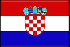 Flagge Kroatien-270x180px