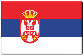 Flagge Serbien-270x180px