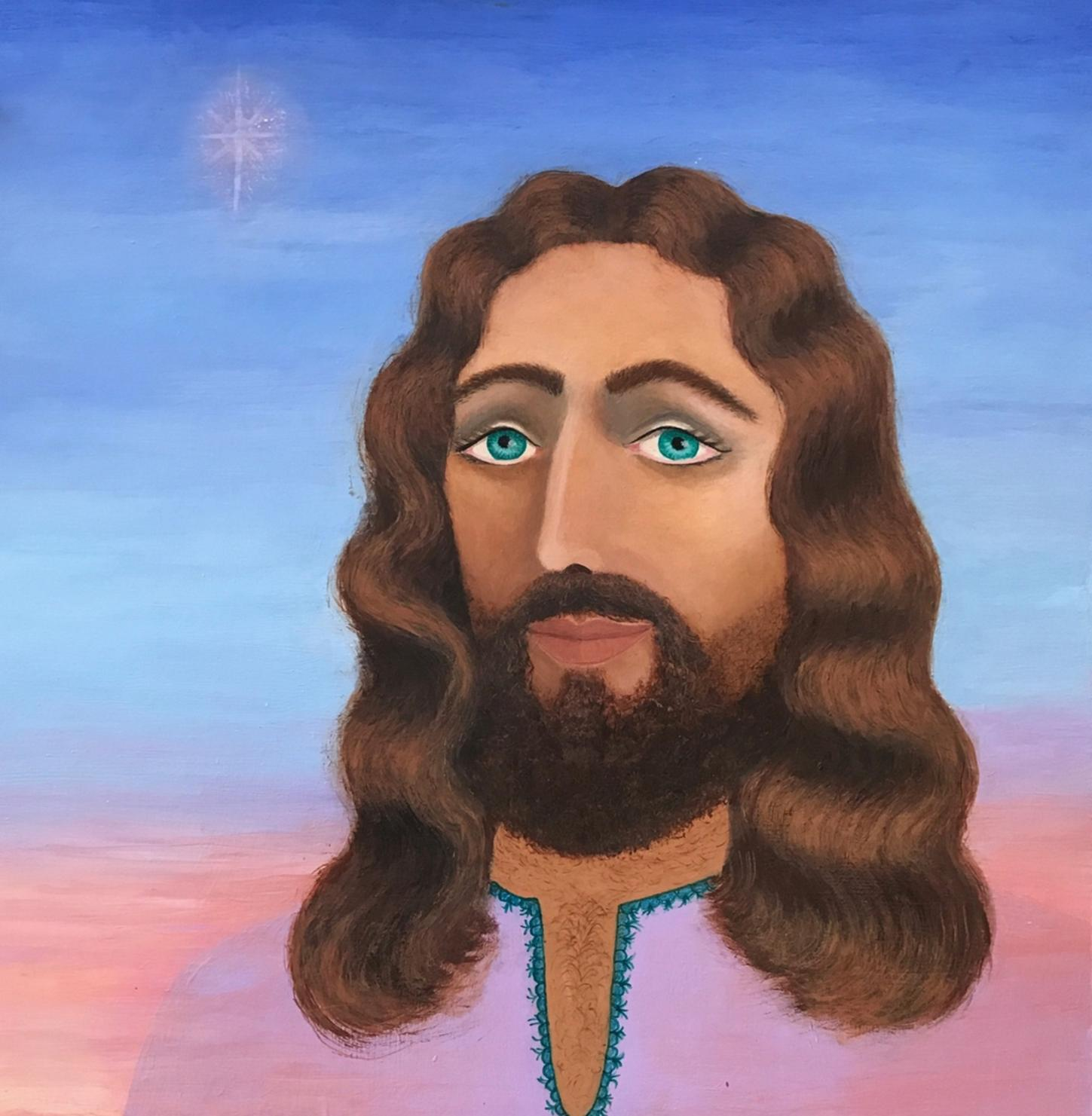 Portrait of Jesus by Sister Clare du Bois