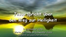 Jesus spricht über den Weg zur Heiligkeit