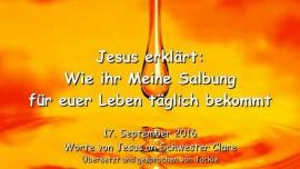 Jesus erklärt - Wie ihr Meine Salbung für euer Leben täglich bekommt