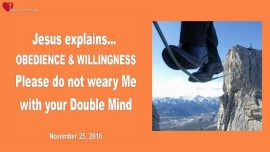 2016-11-25 - Obedience and Willingness-Weary somebody-Double-Minded-Love Letter from Jesus