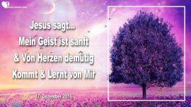 2016-12-17 - Geist Gottes-Geist der Wahrheit-Der Heilige Geist-Sanft-Von Herzen demuetig-Liebesbrief von Jesus
