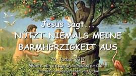 2017-01-26 - Jesus sagt-Nutzt niemals Meine Barmherzigkeit aus-Botschaft von Jesus