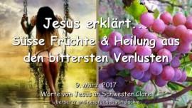 2017-03-09 - Jesus erklaert-Suesse Fruechte und Heilung aus Verlusten - Liebesbrief von Jesus