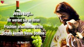 2017-03-28 - An ihren Fruchten erkennen-Meine Schafe kennen Meine Stimme-Liebesbrief von Jesus