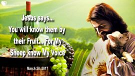 2017-03-28 - You will know them by their Fruit-My Sheep know My Voice-Love Letter from Jesus Christ