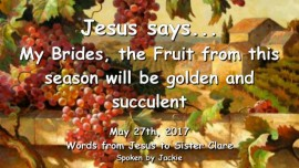 2017-05-27 - JESUS SAYS-My Brides the Fruit from this Season will be golden and succulent-Loveletter from Jesus