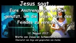 2017-08-12 - Jesus sagt eure Anstrengungen vereiteln die boesen Plaene des Feindes-Liebesbrief von Jesus