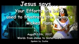 2017-08-12 - Jesus says Your Efforts frustrate the wicked Plans of the Enemy-Love Letter from Jesus